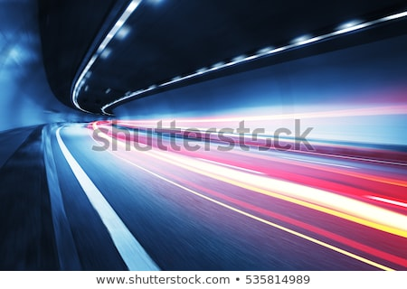 abstract blur car tunnel with light trails stock photo © stevanovicigor