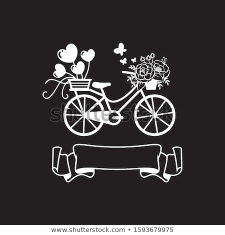 Cycling Floral Wall Decal Vector Illustration Stock photo © rizwanali3d