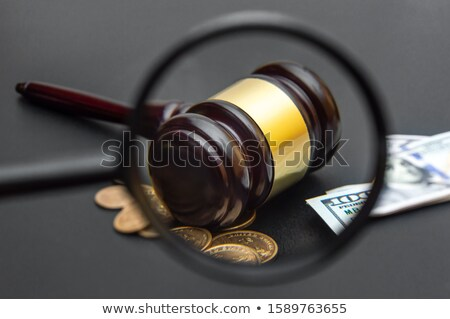 裁判官 見える お金 法廷 クローズアップ デスク ストックフォト © AndreyPopov
