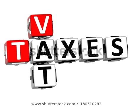 érték · adó · piros · pecsét · fehér · pénz - stock fotó © tashatuvango