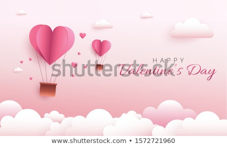 Valentine's day vector illustration Postcard papercut style stock photo © logoff