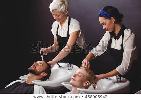 customer getting their hair washed stock photo © wavebreak_media