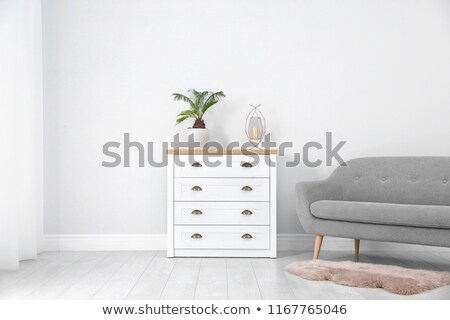 white wall and a chest of drawers Stock photo © manera