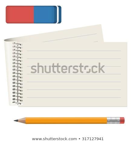 Budget nota agenda pen kantoor papier Stockfoto © fuzzbones0