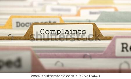 complaints   folder name in directory stock photo © tashatuvango