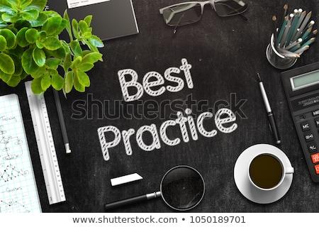 Learn, Practice, Improve. Handwritten on Chalkboard. Stock photo © tashatuvango