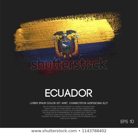 Ecuador vidék zászló térkép forma szöveg Stock fotó © tony4urban