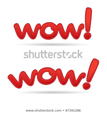 Stempel tekst wow teken print inkt Stockfoto © kiddaikiddee
