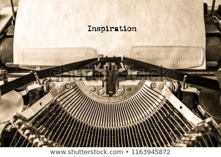 macchina · da · scrivere · cosa · storia · immagine · stampata · vecchio - foto d'archivio © stevanovicigor