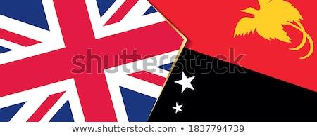 Büyük Britanya Papua Yeni Gine bayraklar bilmece yalıtılmış beyaz Stok fotoğraf © Istanbul2009