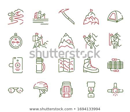 Iconos montañismo icono ilustración diferente mapa Foto stock © lenm