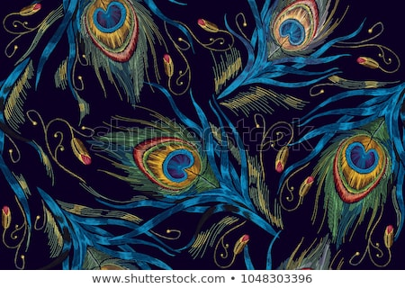 vector seamless pattern of plumage stock photo © mamziolzi