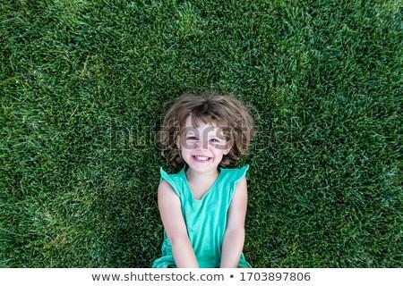 little girl on grass stock photo © Paha_L