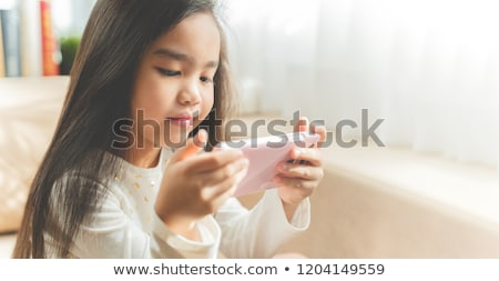 children with phones Stock photo © Paha_L