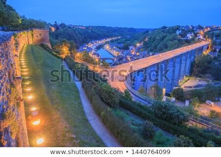 Liman Fransa gece görmek nehir su Stok fotoğraf © smartin69