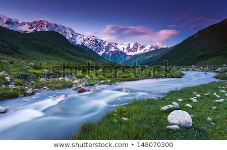 landscape with a mountain river in georgia stock photo © kotenko