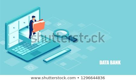 ストックフォト: サービス · ビジネス · フォルダ · カタログ · カード · クローズアップ