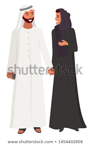 Dame tragen lange schwarz Schleier angebracht Stock foto © jrstock