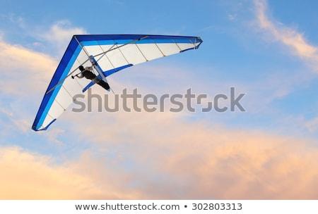 hang gliding in the sky at sunset stock photo © adrenalina