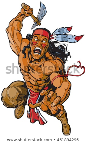 Brave Indian Warrior Stock photo © sharpner