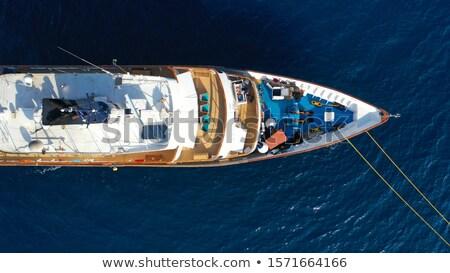 Banhos de sol doca mediterrânico mar irreconhecível homem Foto stock © nito