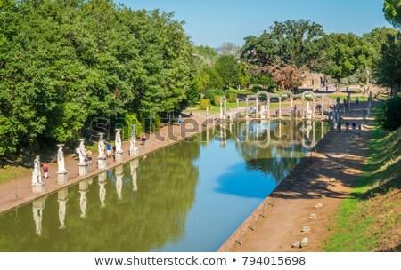 Oude ruines villa water architectuur standbeeld Stockfoto © vladacanon