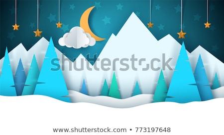 neşeli · Noel · manzara · eps · 10 · vektör - stok fotoğraf © beholdereye
