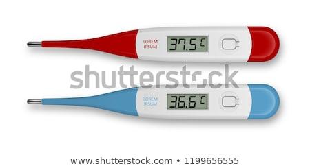 Szett elektronikus orvosi hőmérő izolált fehér Stock fotó © orensila
