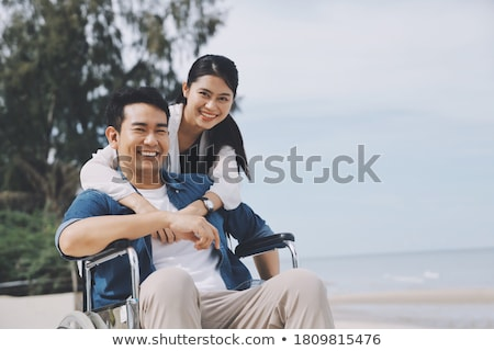 couple on the wheelchair Stock photo © adrenalina