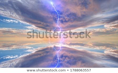 villám · égbolt · fény · eső · mező · zöld - stock fotó © marcrossmann