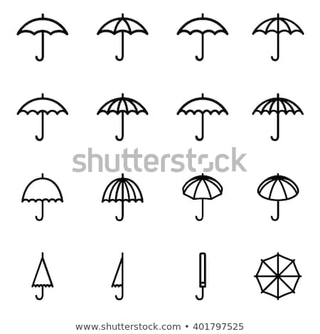 vector flat symbol of umbrella protection from rain drops stock photo © freesoulproduction