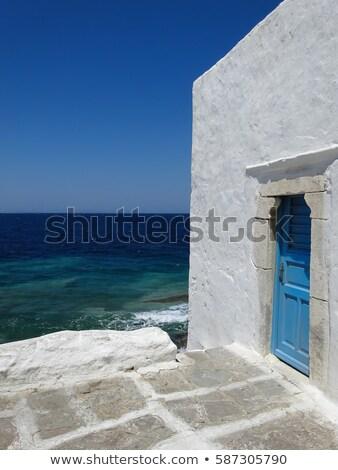 grecia · cielo · casa · mar · viaje · nube - foto stock © tepic