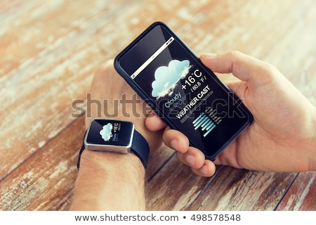 preto · móvel · ar · condicionado · branco · botão · plástico - foto stock © dolgachov
