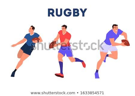 Rugby joueur courir balle blanche sport Photo stock © wavebreak_media