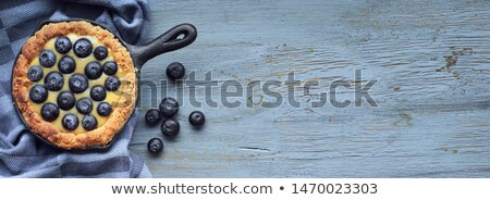 Vla vulling plaat aardbei vers room Stockfoto © Digifoodstock