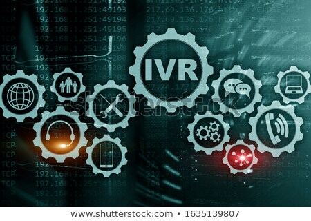 binary code with the word voip in the center stock photo © zerbor