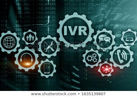 Código binario palabra voip centro ordenador teléfono Foto stock © Zerbor