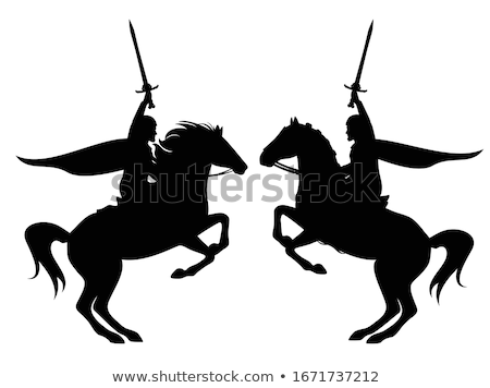 Knight on Horse Holding Sword Stock photo © Krisdog