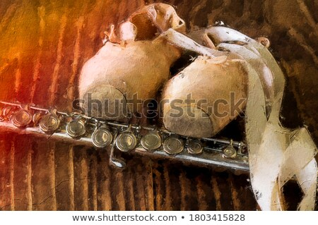 Ballet Shoes and Flute stock photo © aleishaknight