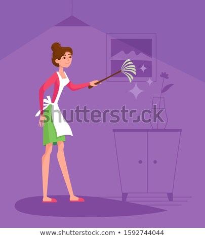 Homemaker in violet. Stock photo © Fisher