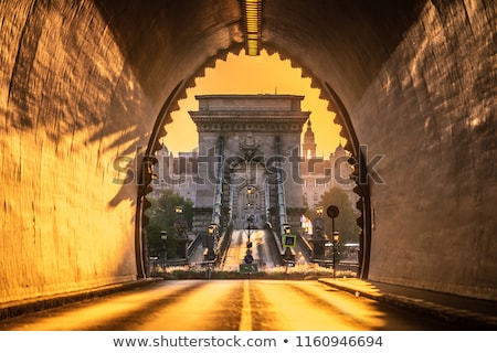 Buda Castle Tunnel and Chain Bridge, Budapest, Hungary Stock photo © szabiphotography