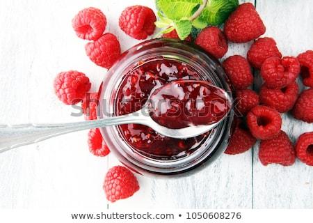 Ahududu reçel kavanoz olgun meyve Stok fotoğraf © filipw