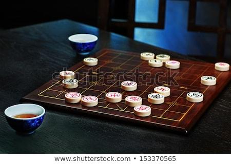 chino · ajedrez · deporte · piedra · juguete · anillo - foto stock © cozyta