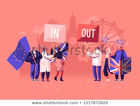 ue · referéndum · banderas · textura · euros · país - foto stock © m_pavlov