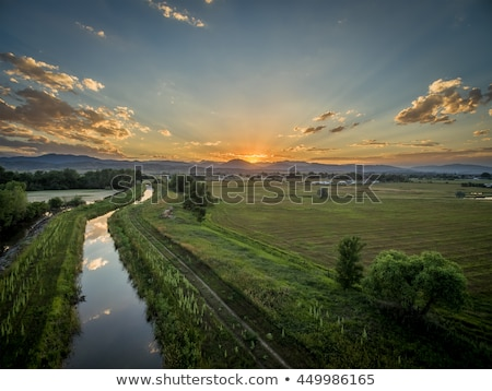 lake and irrigation ditch in Colorado Stock photo © PixelsAway