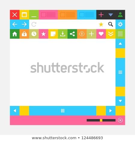 Háló böngésző ablak gombok új minimális Stock fotó © feelisgood