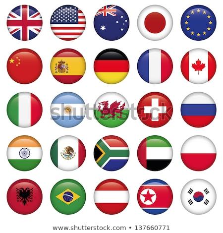 Canadá bandeira botão isolado branco negócio Foto stock © speedfighter