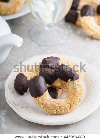 chocolade · marsepein · witte · ontwerp · lijn · gesneden - stockfoto © digifoodstock
