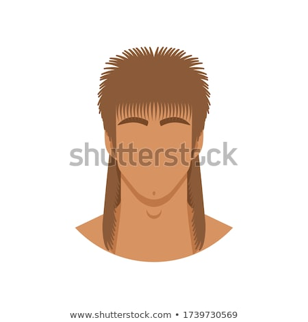 handsome happy man with mullet haircut Stock photo © lubavnel