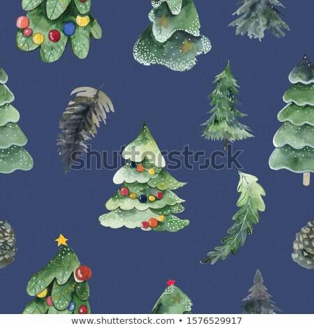 modelo · boneco · de · neve · árvore · de · natal · presentes · festa - foto stock © bluering